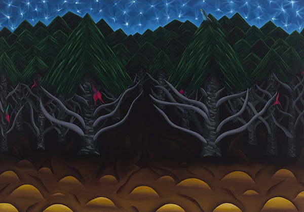 "MOONLIGHT SONATA  oil on canvas, 32 x 46.5""  1984"